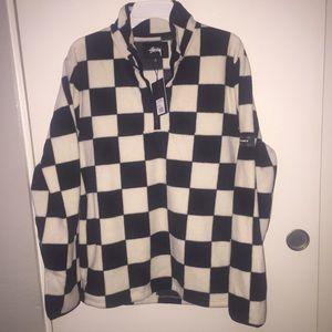 Checkered Mock Neck sweater
